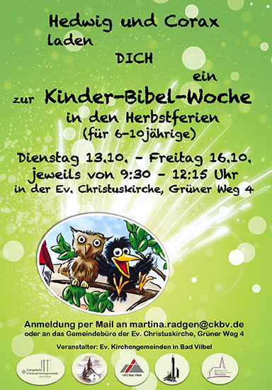 kinderbibelwoche flyer